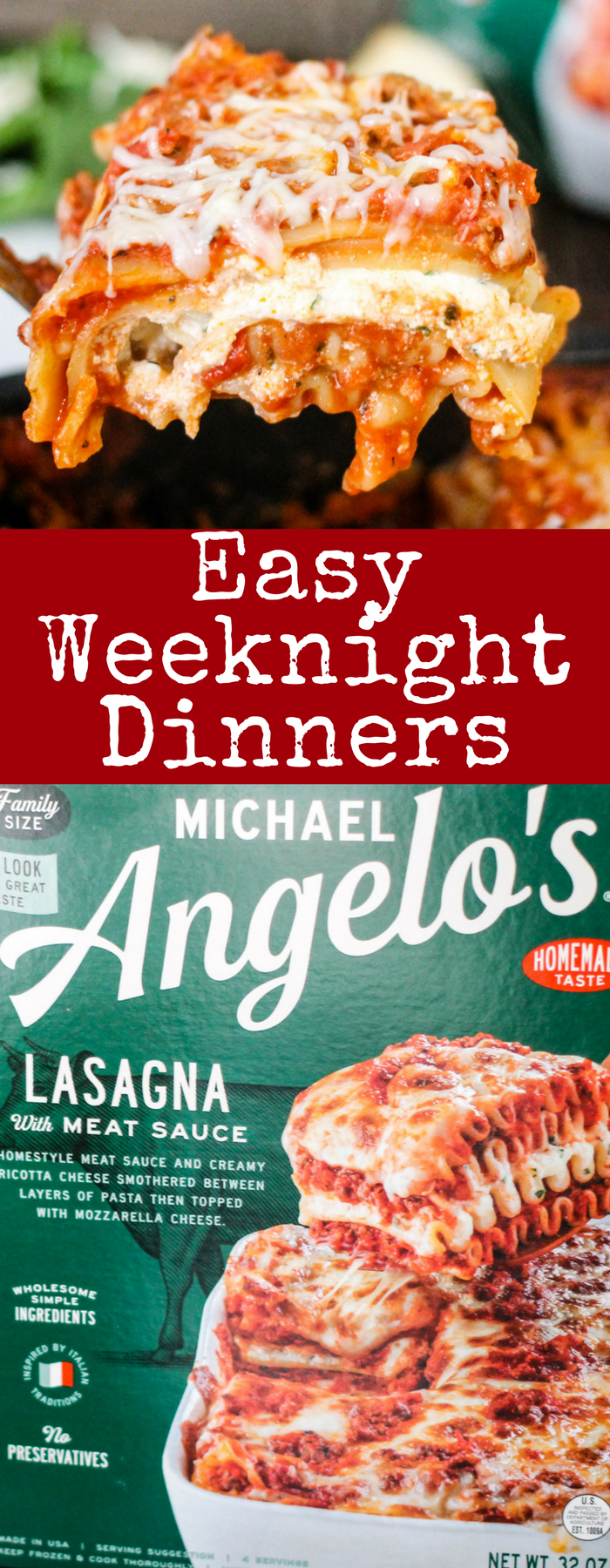 Quick, easy and delicious weeknight dinners with Michael Angelo's make your life SO much easier - just bake and serve! So yummy and the family will LOVE them!