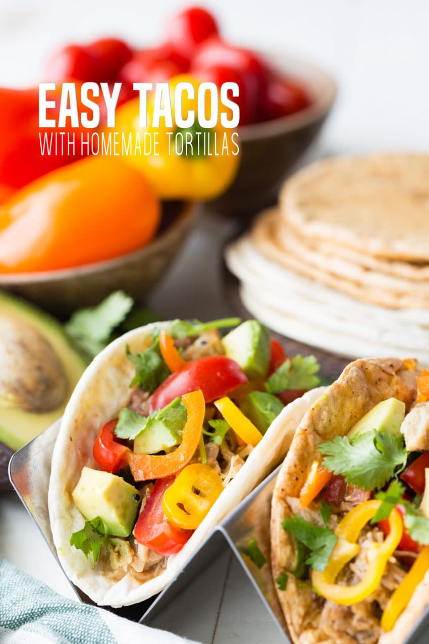 Taco Night just got easier with these delicious Easy Tacos with homemade tortillas, or in this case, roti. Using the Rotimatic, making and customizing tortillas is easy tasty, and delicious.