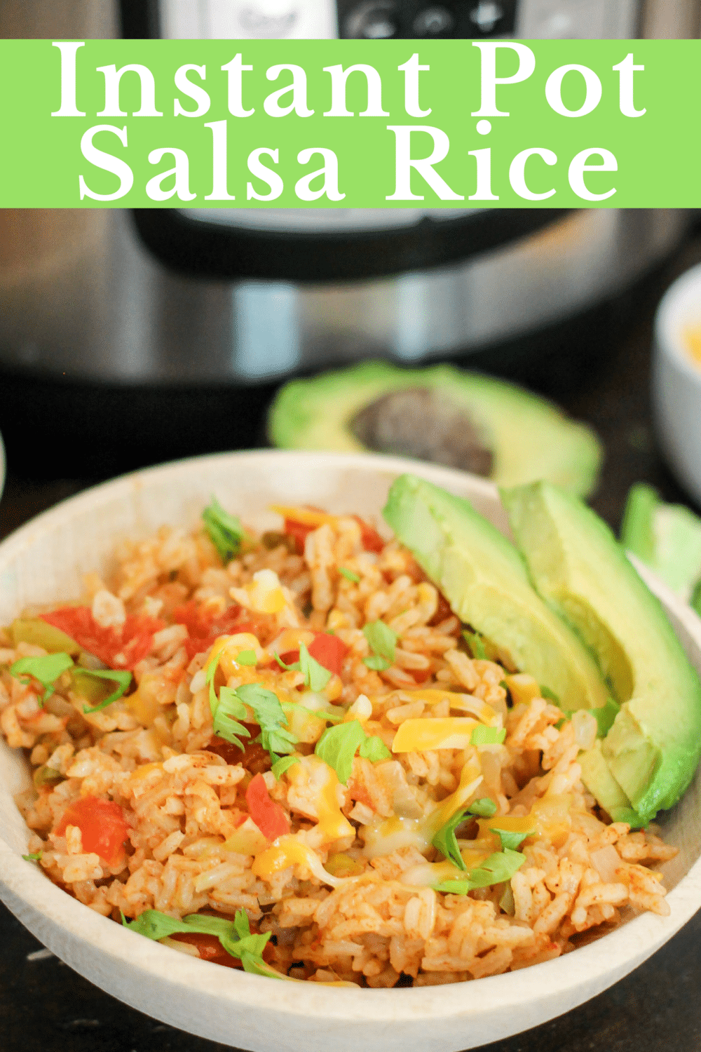 Instant Pot Salsa Rice is the perfect meal or side dish to your favorite Mexican inspired dinner! Filled with fresh vegetables and only 4 minutes in the Instant Pot and this rice is ready to eat!