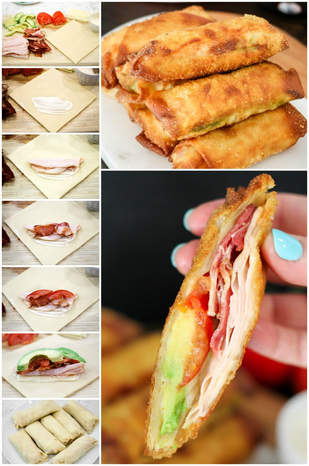How to make Turkey Club Egg Rolls