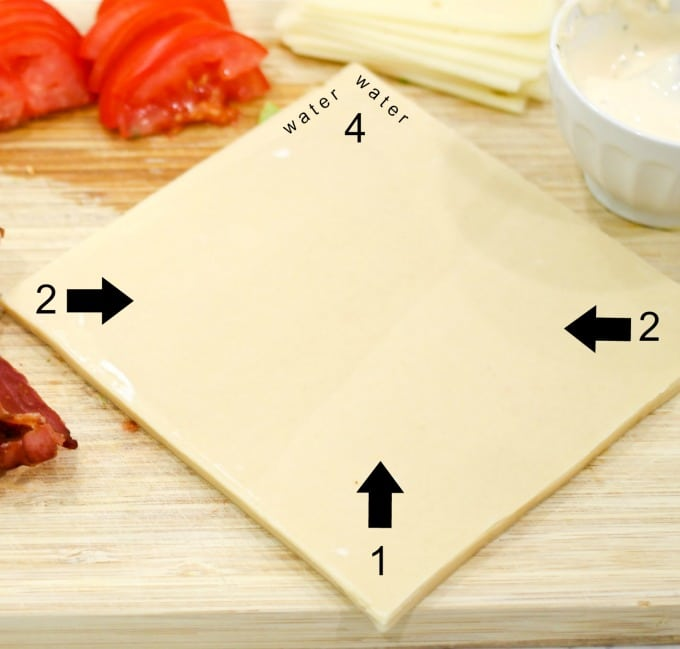How to fold an egg roll - how to wrap an egg roll