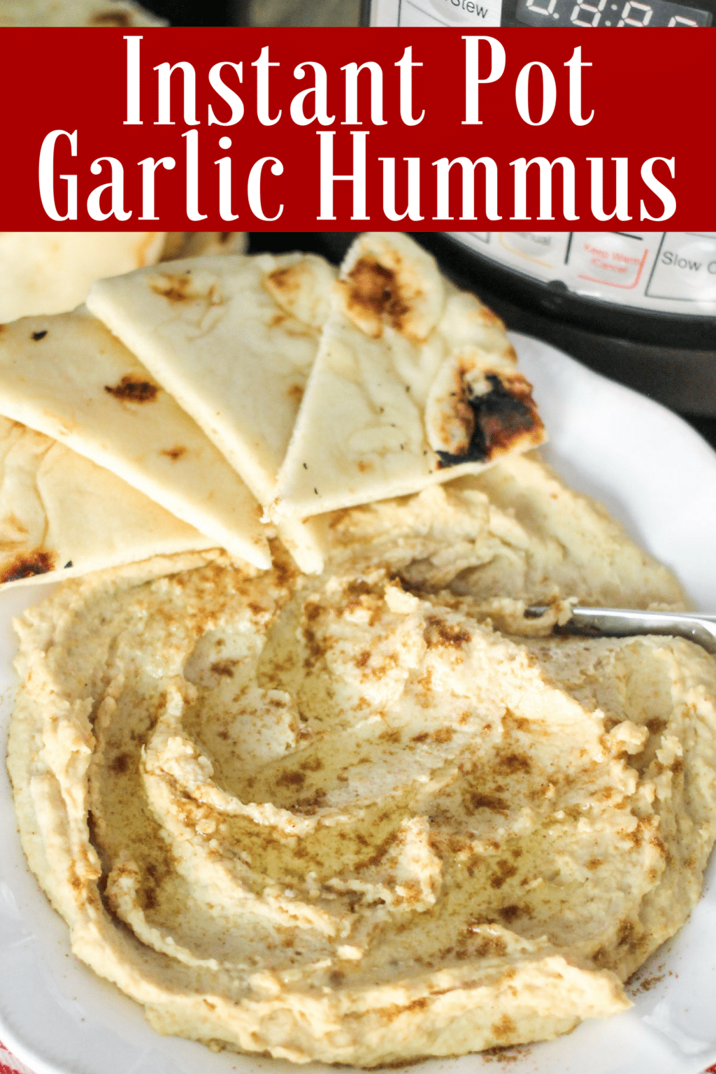 Only a handful of ingredients in this delicious Garlic Hummus. Save money and know exactly what's in your food with this Instant Pot Garlic Hummus Recipe!