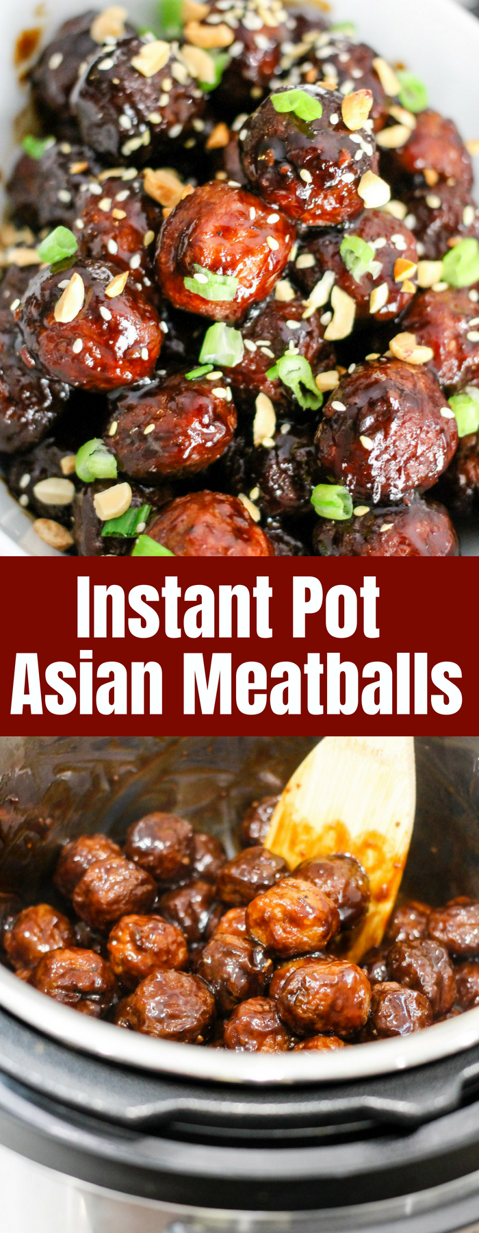 Instant Pot Asian Meatballs are the perfect easy appetizer; done in under 20 minutes! The sweet and slightly spicy sauce will have you hooked year round!