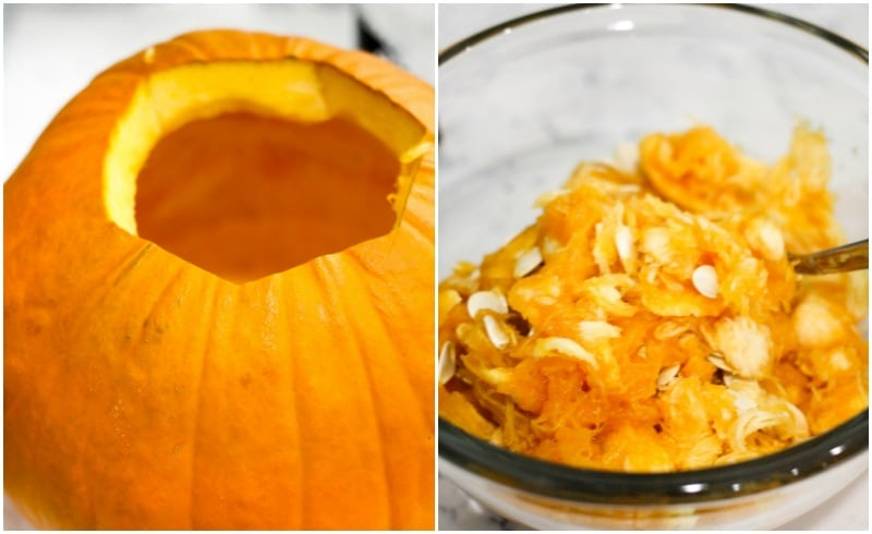 Learn the easiest way to make Pumpkin Puree from scratch using the Instant Pot! Use homemade pumpkin puree in all your favorite fall recipes!