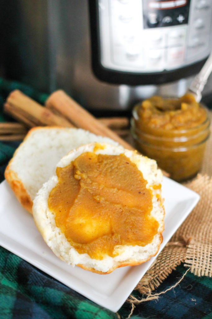 Instant Pot Pumpkin Butter takes only 3 minutes to make, and is a delicious fall recipe that's perfect on toast, biscuits, or in your favorite dessert! No instant pot? Make it on the stovetop in 30 minutes!