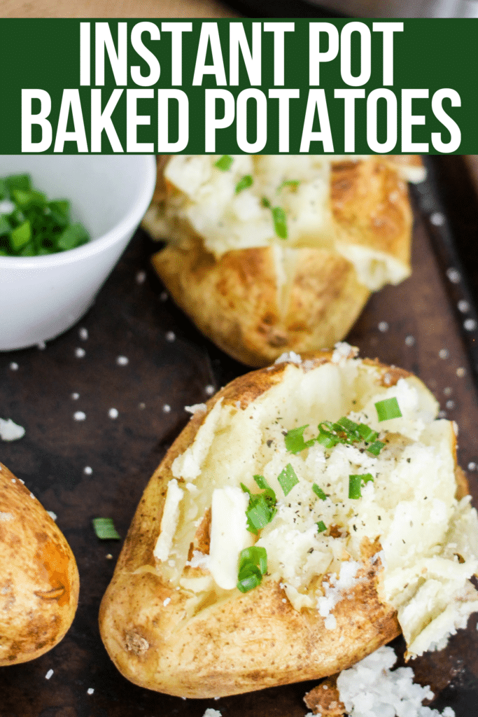 Instant Pot Baked Potatoes are done in a fraction of the time as traditional baked potatoes, and are the creamiest baked potatoes you will ever eat! You're going to LOVE this CRISPY SKIN HACK!!!