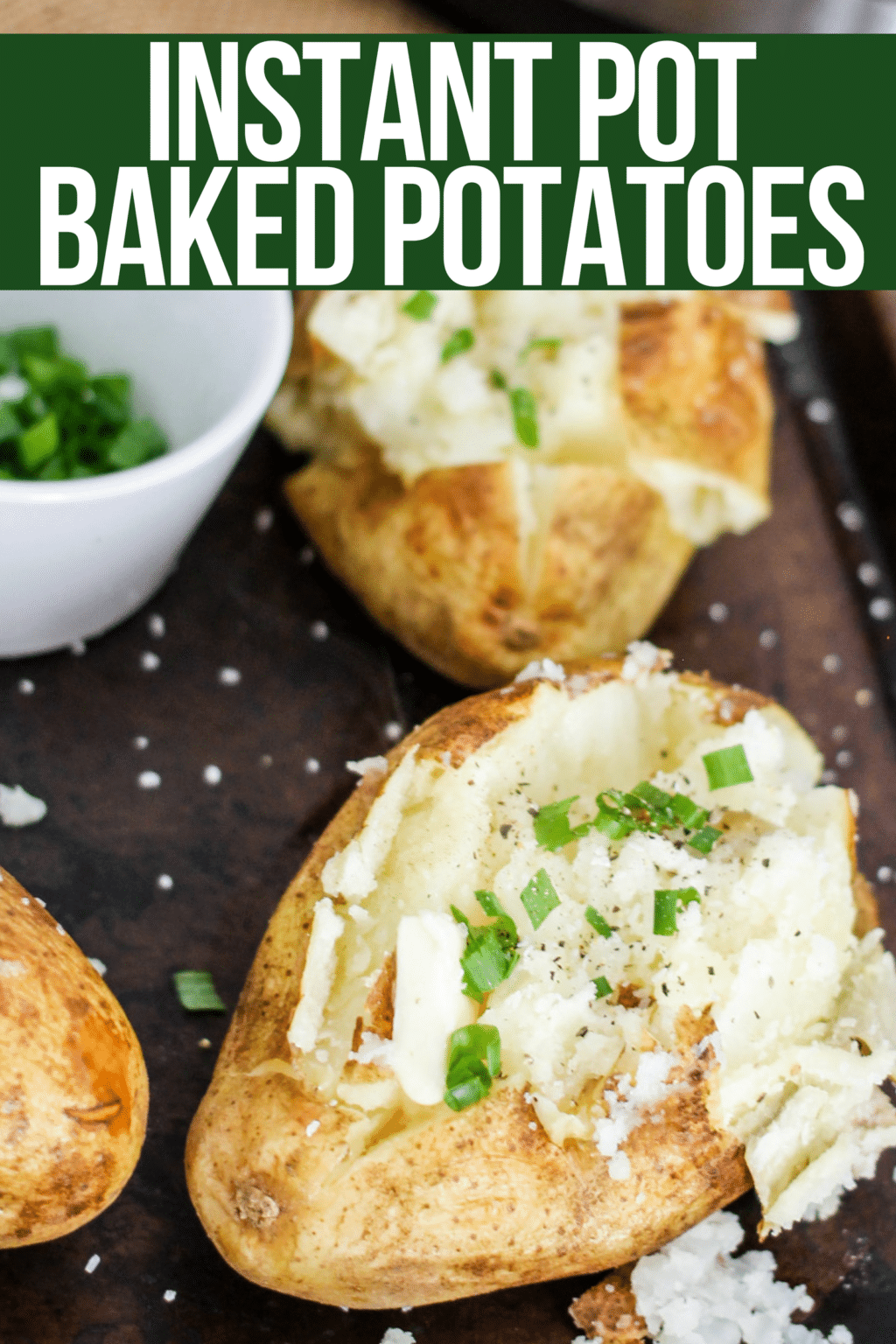 Instant Pot Baked Potatoes With Crispy Skins Domestic Superhero