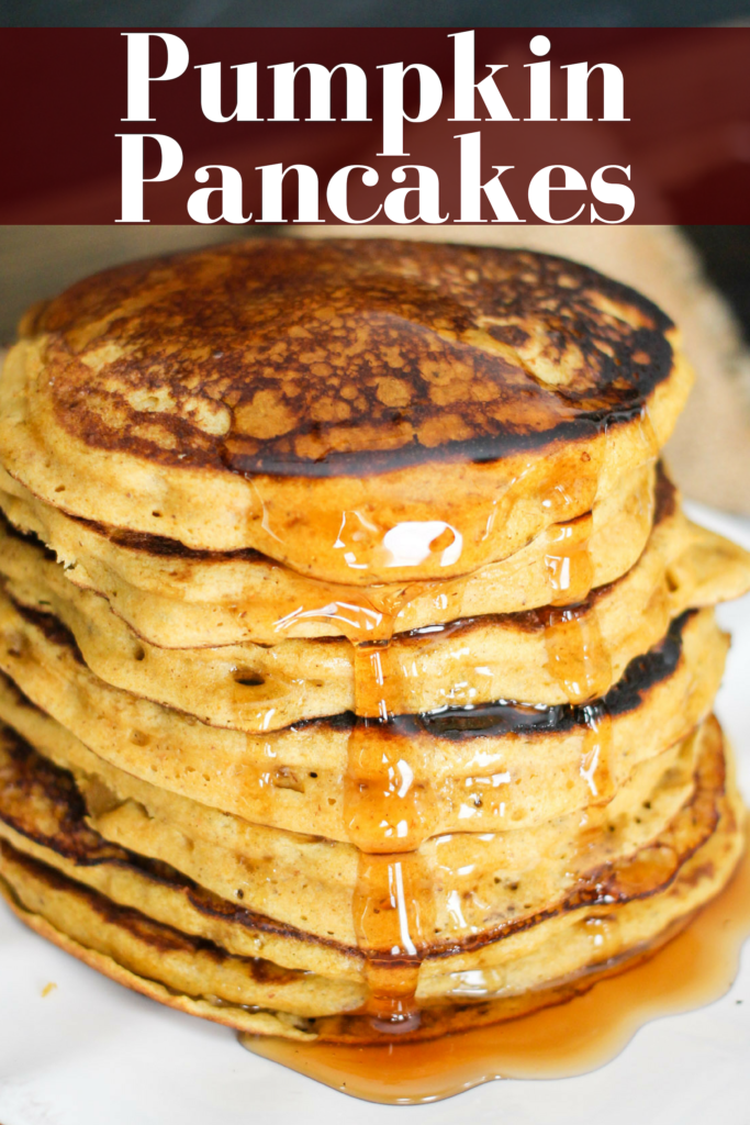 Make these all the time- THE BEST RECIPE!!! Pumpkin Pancakes are a fall breakfast staple! Adding Greek yogurt lightens them up, adds protein, and keeps the pancakes delicious and moist!