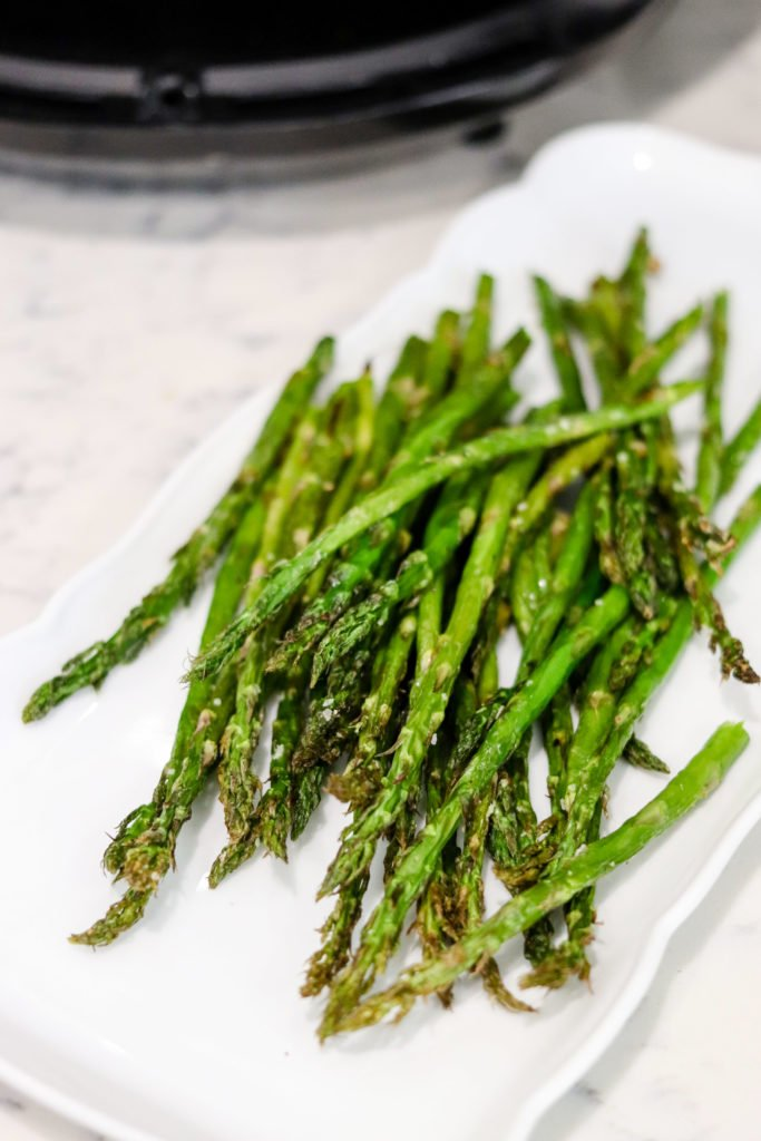 With only 2 ingredients and taking a fraction of the typical time, this Air Fryer Roasted Asparagus will be your favorite way to cook asparagus from now on!