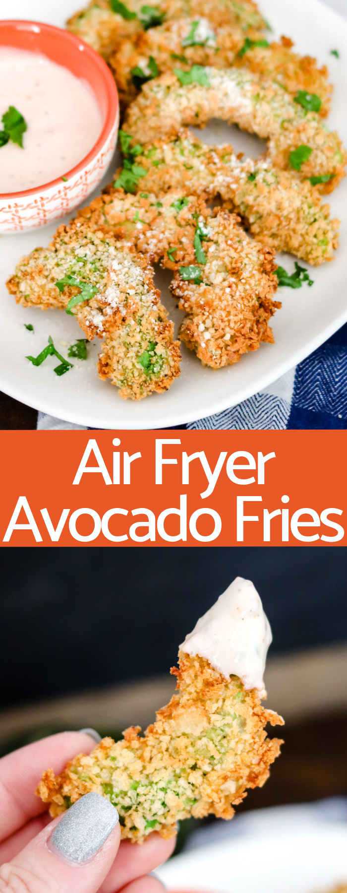 Air Fryer Avocado Fries are creamy and crunchy without any oily mess! With only a handful of ingredients, these are the perfect healthy snack or appetizer!