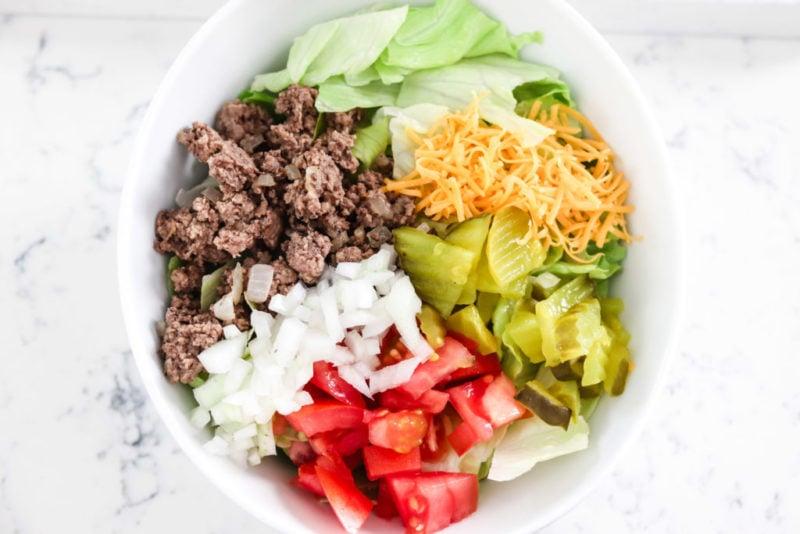 Big Mac Salad without dressing