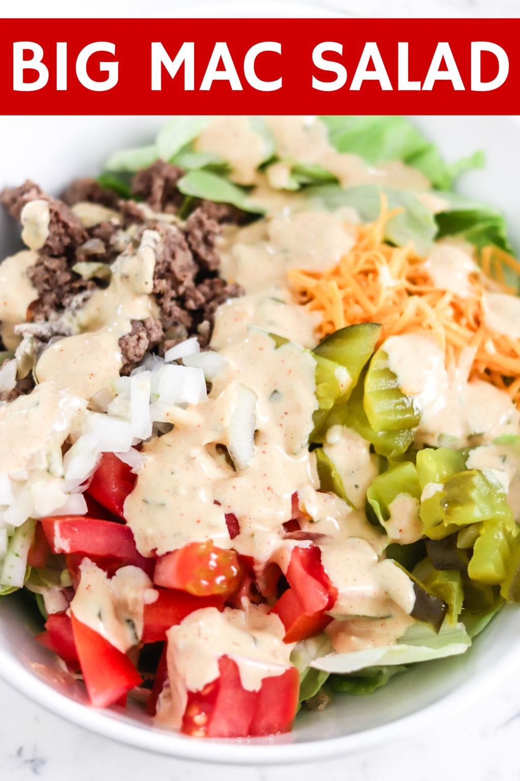 Big Mac Salad with Text overlay