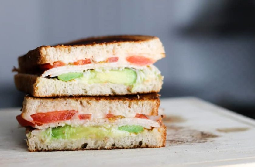 California Grilled Cheese is full of turkey breast, tomatoes, creamy avocado and melted gooey cheese! This grilled cheese is perfect for lunch or dinner!