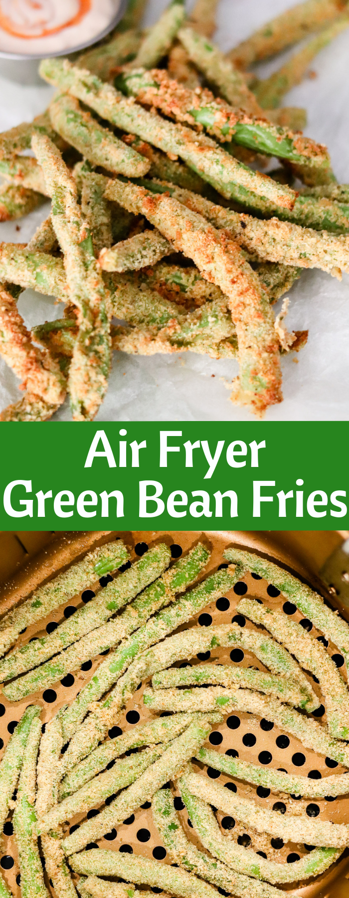 The crispy coating on these Air Fryer Green Bean Fries makes them perfect snack! With no oil and only a handful of ingredients, it's easy and guilt-free.