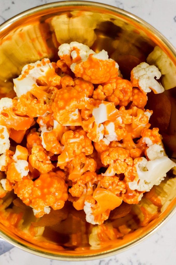 Buffalo Cauliflower in bowl