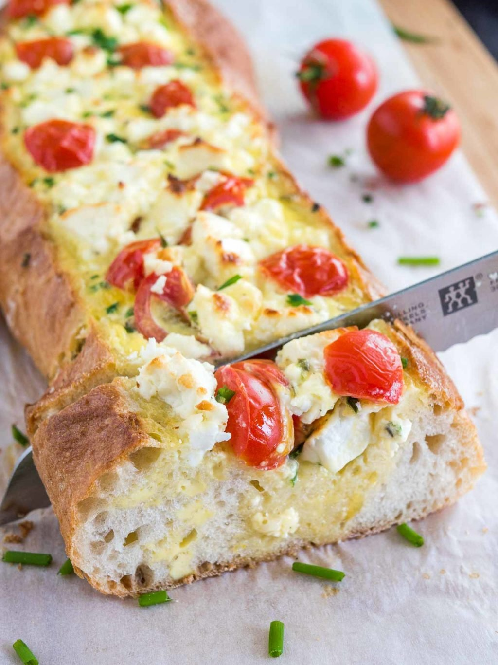 Tomato Feta Stuffed Bread