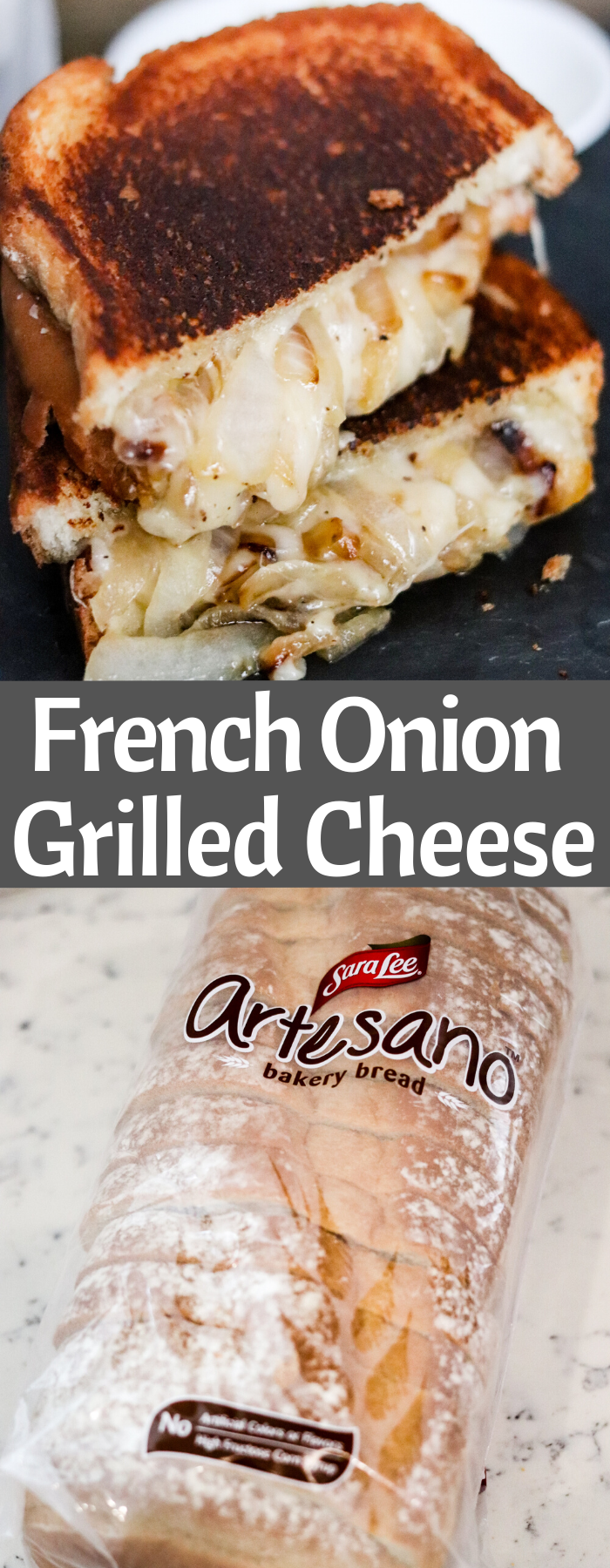 Caramelized sweet Vidalia onions mixed with rich Gruyère cheese and melted between a thick sliced crusty bread makes the perfect French Onion Grilled Cheese.