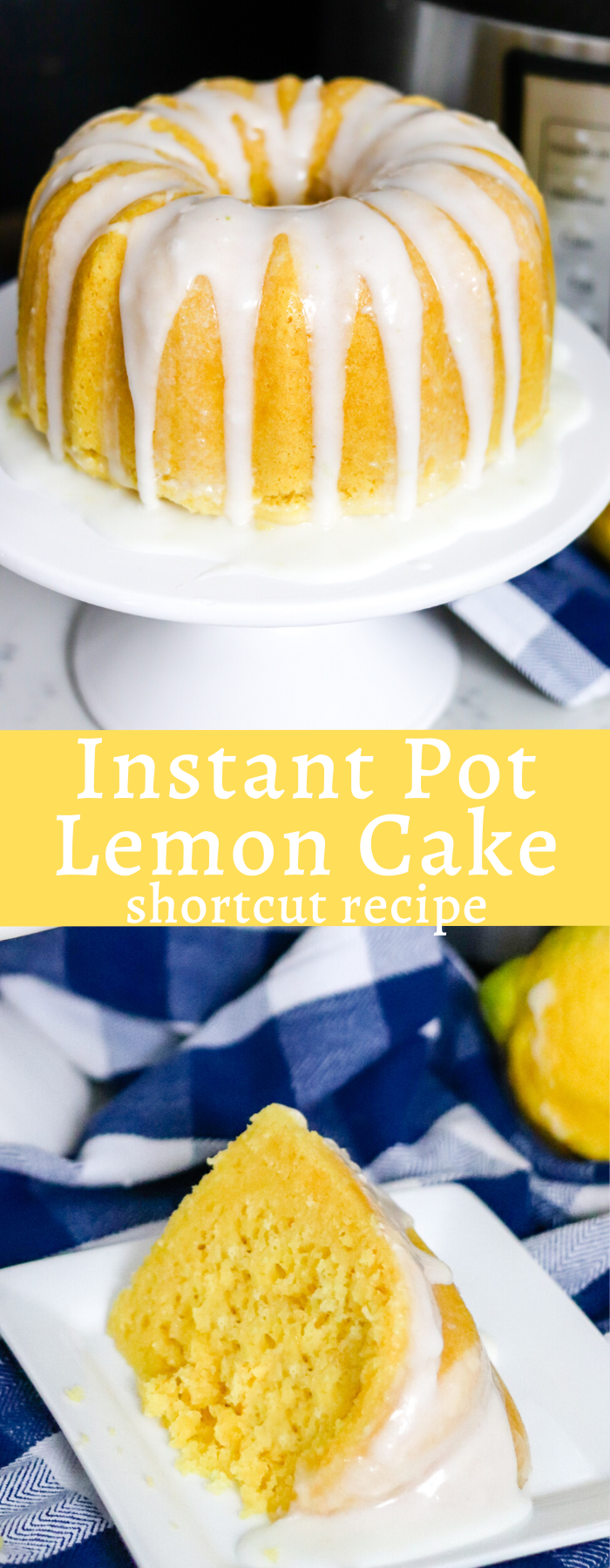 This Instant Pot Lemon Cake is the easiest and most delicious cake! Made in half the time and incredibly moist, you will never make cake another way!