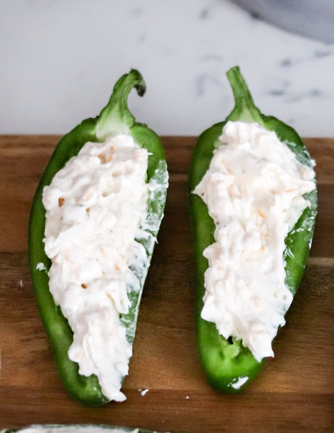 Filled jalapeno poppers