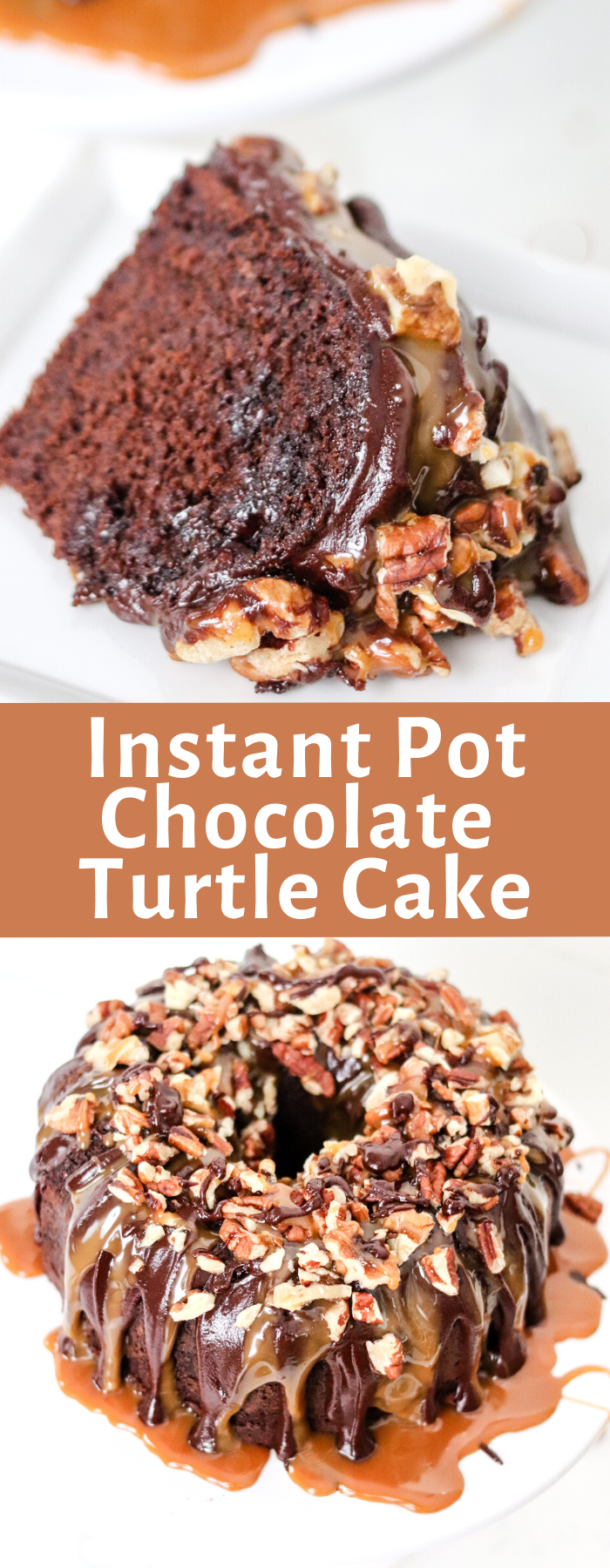 Making Instant Pot Chocolate Turtle Cake is easy, delicious, and frankly the best cake! It's moist and decadent, and done in less than 45 minutes!