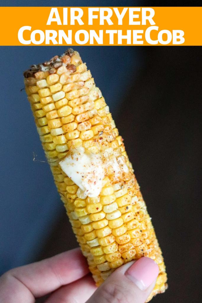 Air Fryer Corn on the Cob is easy and delish! The kernels are perfectly roasted and tender! Less than 15 minutes to enjoy fresh in season corn on the cob!