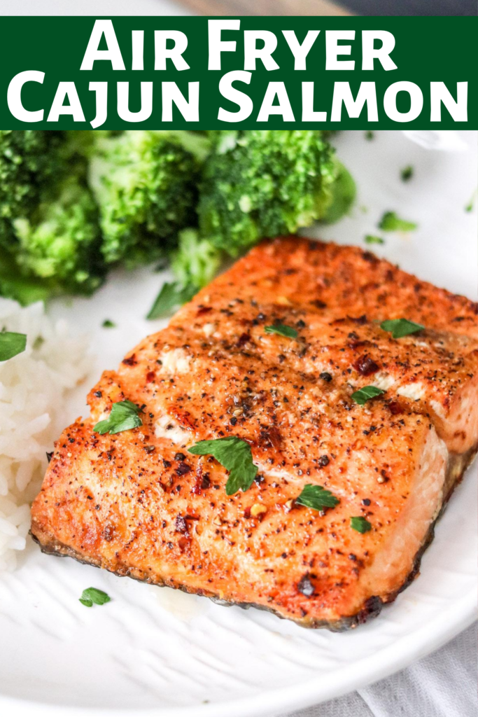 Making salmon is easy in the air fryer; It's done in less than 10 minutes! Air Fryer cajun salmon is juicy, flakey, healthy, and delicious! Best dinner!