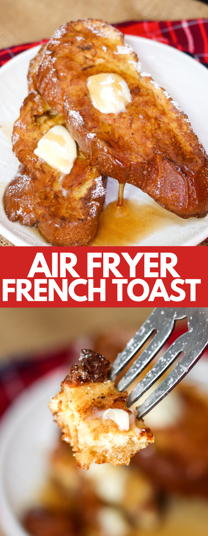 Air Fryer French Toast is quick, easy, and delicious! It takes barely any time to prep and cooks rapidly! Make it now, or follow the easy freezer directions! This is be a breakfast recipe staple!