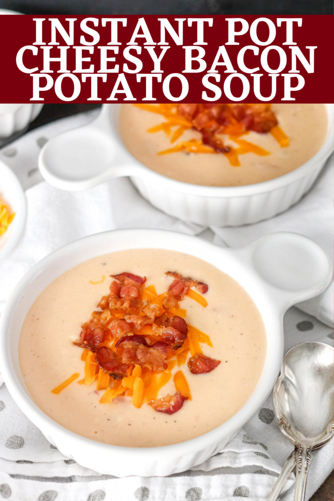 This hearty Instant Pot Potato Soup is a delicious comfort meal. The soup is the perfect mix of potatoes, bacon, and cheese. In just a few minutes, dinner is served!
