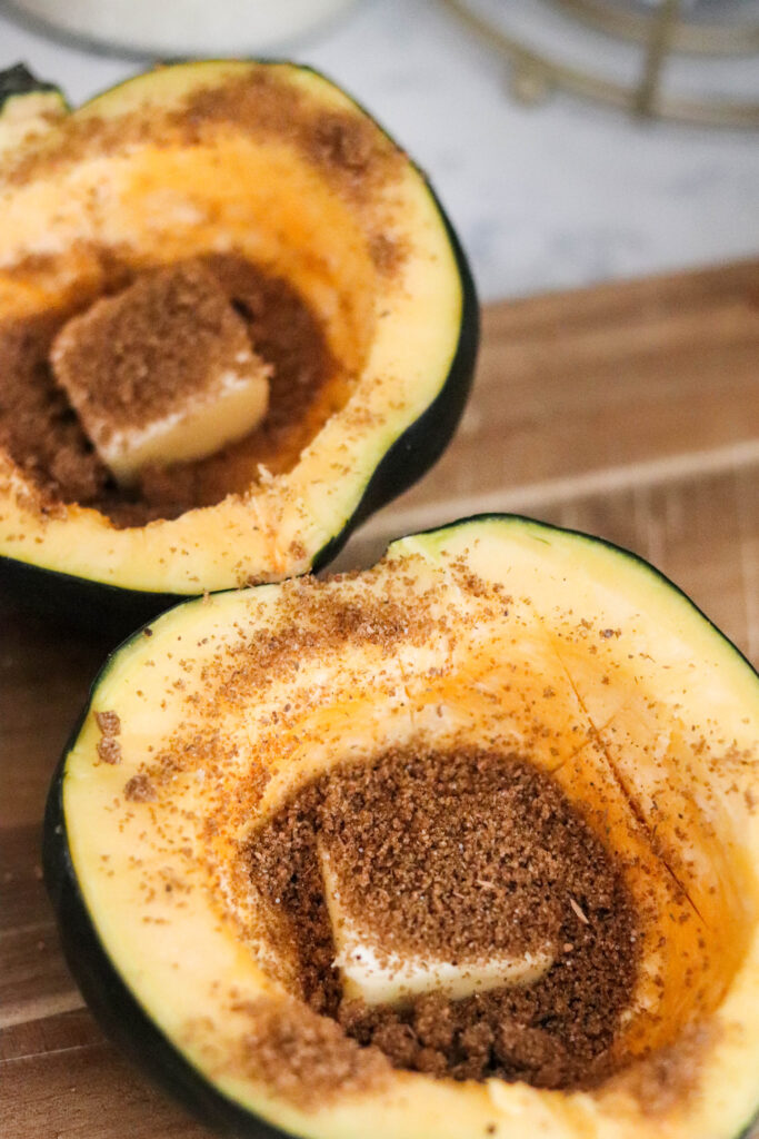 acorn squash with butter and brown sugar