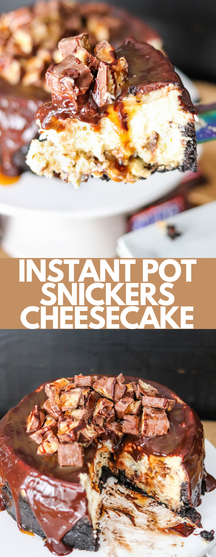 Instant Pot Snickers Cheesecake is a dessert that takes very little effort! Packed with caramel, peanuts, and milk chocolate, this is the best cheesecake ever!