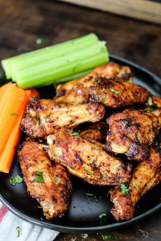 Air Fryer Chicken Wings are the best and crispiest wings ever! Done in less than 20 minutes, you'll never make wings another way again!