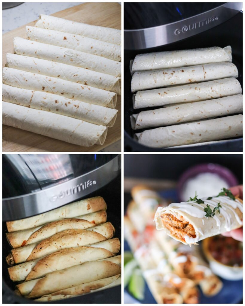 steps for cooking chicken taquitos