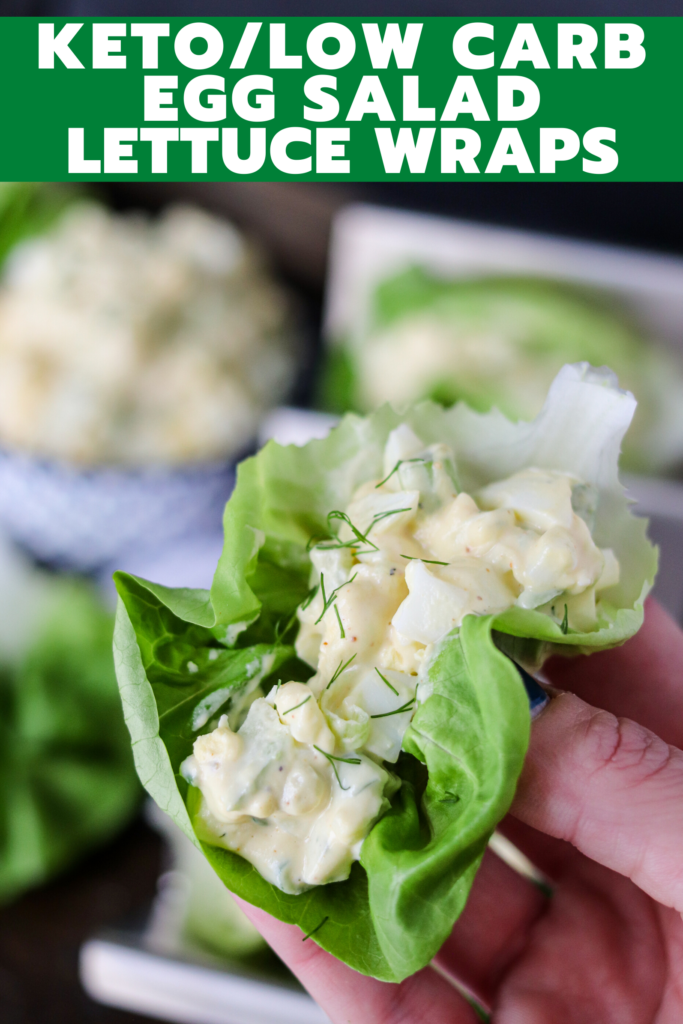 With only 3g of carbs per serving, these Keto Egg Salad Lettuce Wraps are delicious and healthy! This is the perfect easy lunch or dinner!