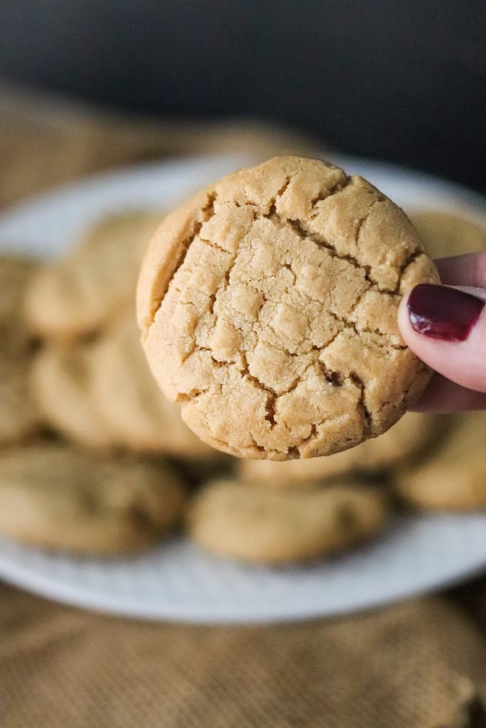 These Peanut Butter cookies are the easiest cookies ever! They are delicious, flavorful and only take a handful of ingredients!