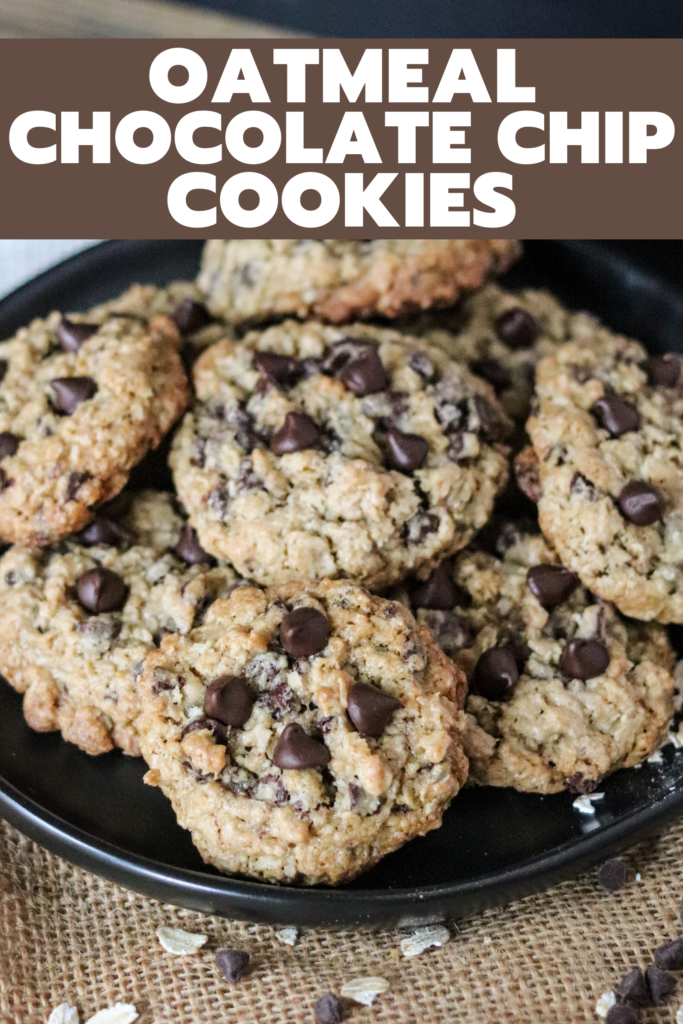 These Oatmeal Chocolate Chip cookies are the perfect mix of oatmeal and chocolate. So easy to whip up and majorly delicious; these will be your favorite cookie!