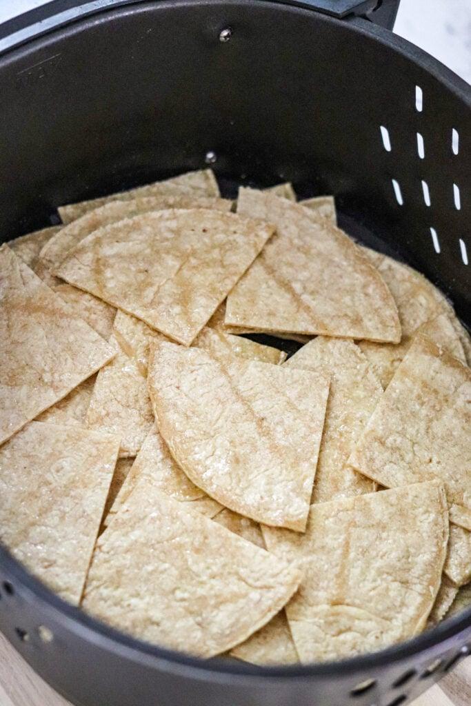 tortillas in the air fryer basket