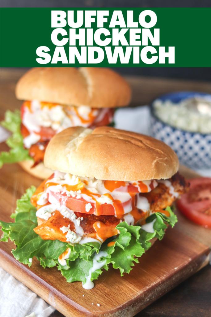 Back to school dinner recipes - buffalo chicken sandwich