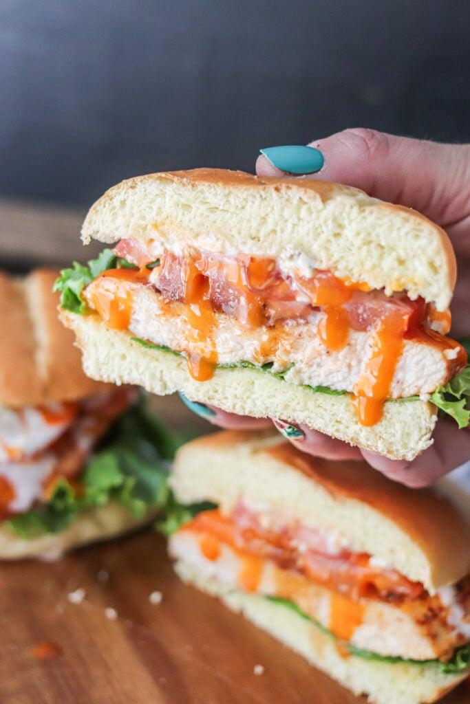 sandwich cut in half