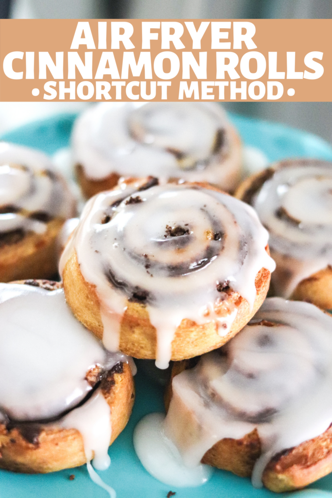 Making Cinnamon Rolls has never been quicker than with the air fryer! Breakfast is served in less than 10 minutes!