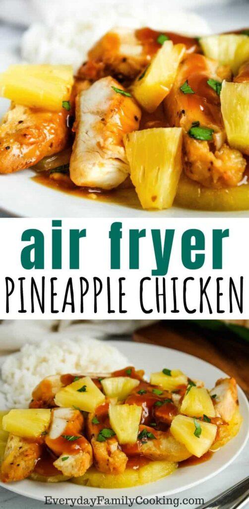 air fryer pineapple chicken