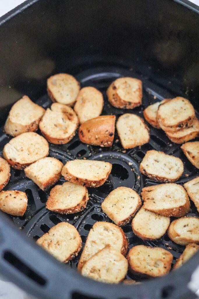 bagel chips in the air fryer basket