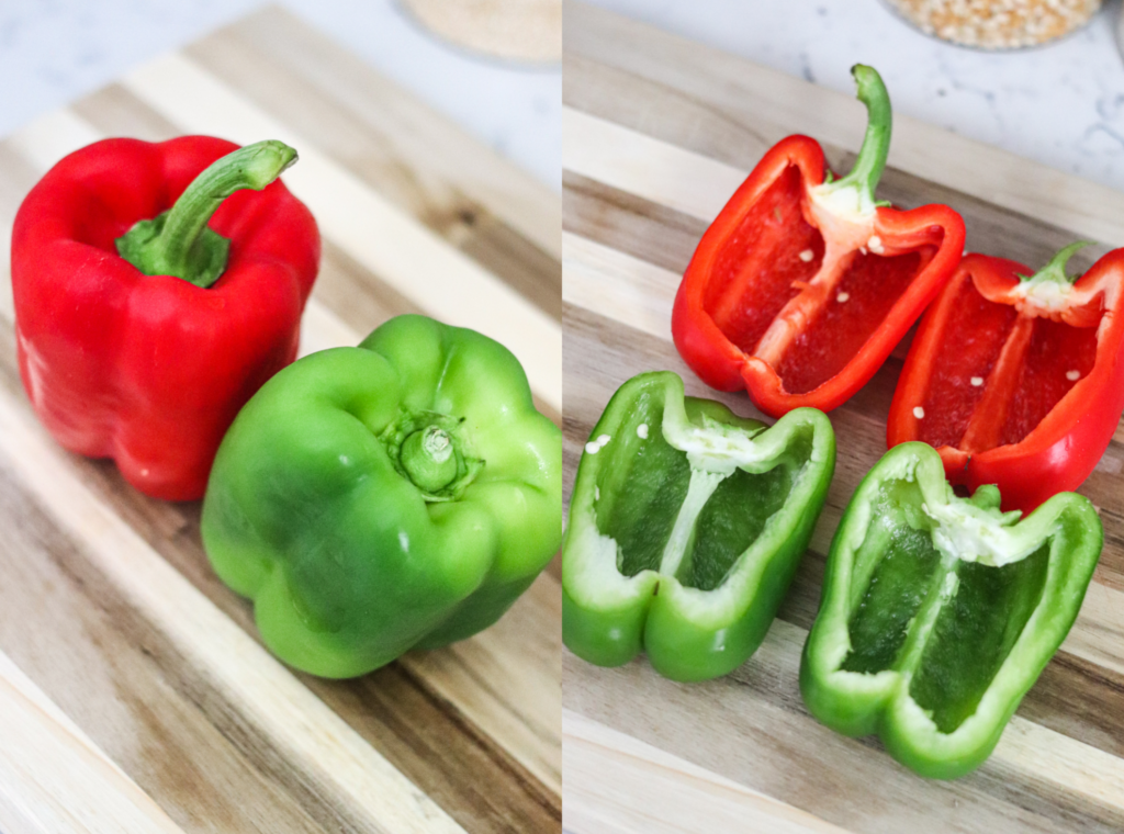 prepping peppers